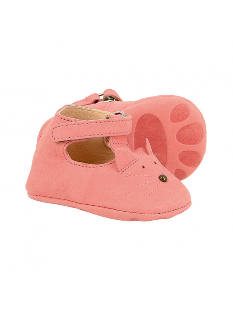 Chausson Loulou Chat Rose