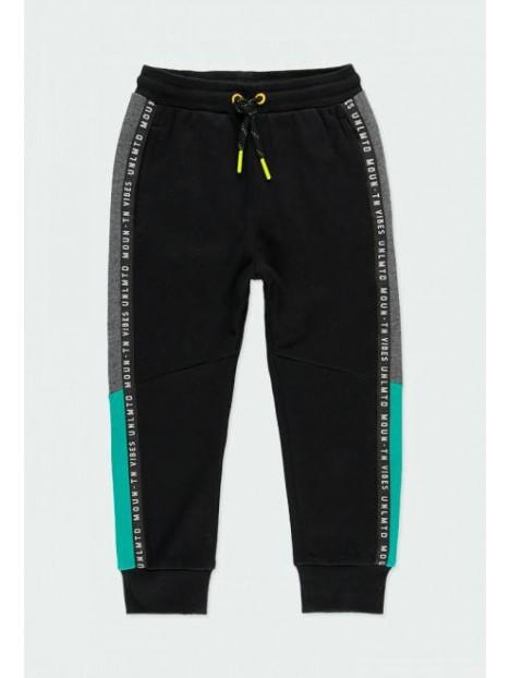 Pantalon noir avec détails gris, bleu